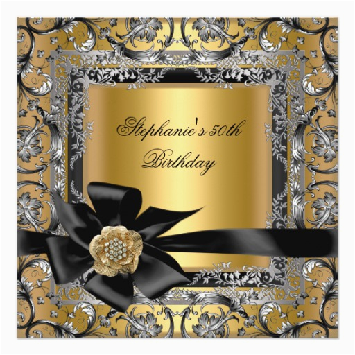 50th Birthday Party Decorations Black And Silver Gold Bow 5 25