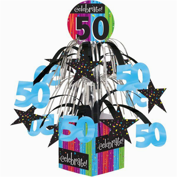 50th birthday mini foil centerpiece