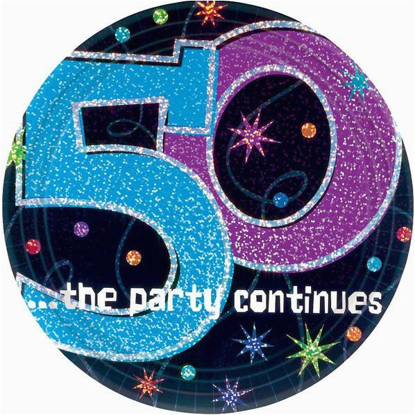 the party continues 50th birthday 9 dinner plates 8 pack