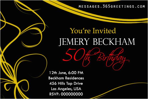 50th Birthday Party Invitation Samples Invitations And