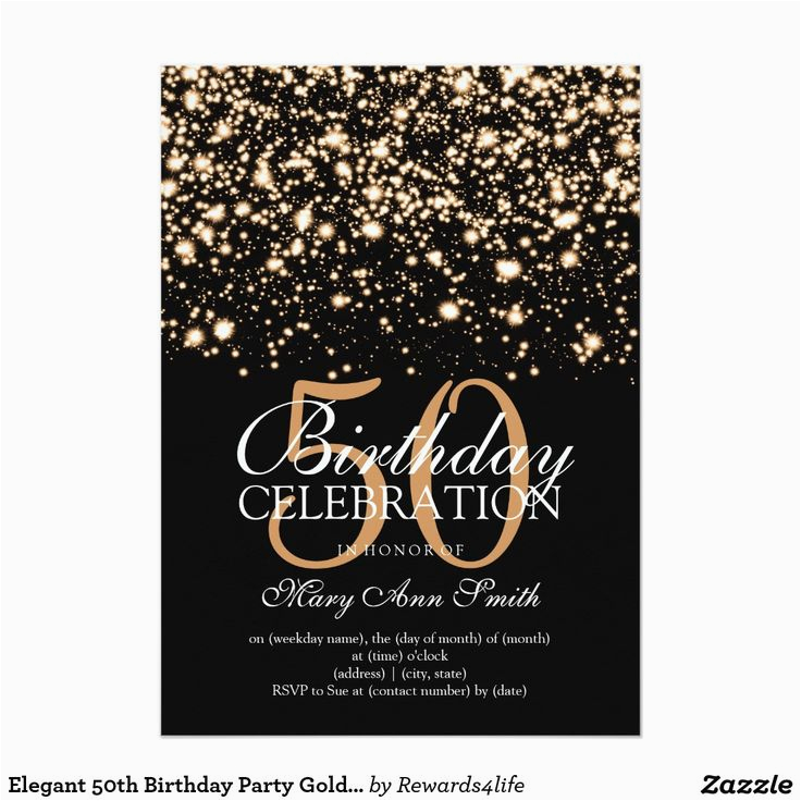 50th Birthday Party Invitation Wording Ideas Templates