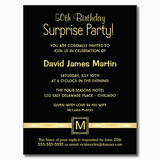 50th Birthday Party Invitation Wording Ideas Surprise Invitations Free