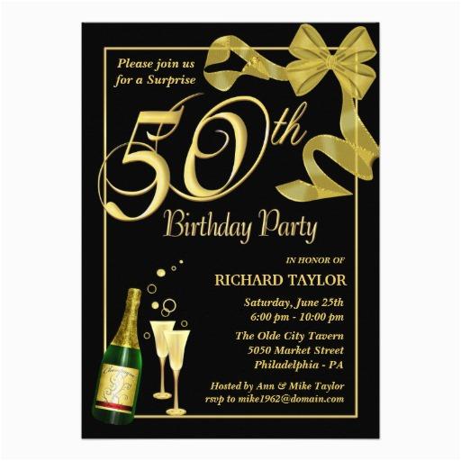 50th Birthday Party Invitations Free Printable Ideas Bagvania