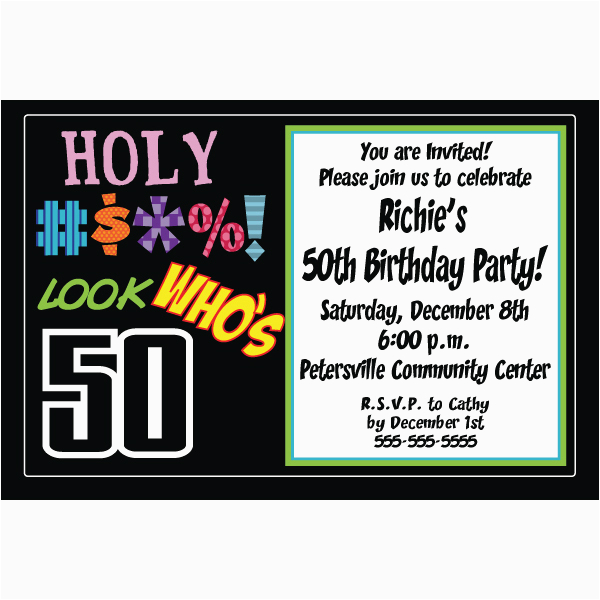 50th Birthday Party Invitations Free Printable Templates