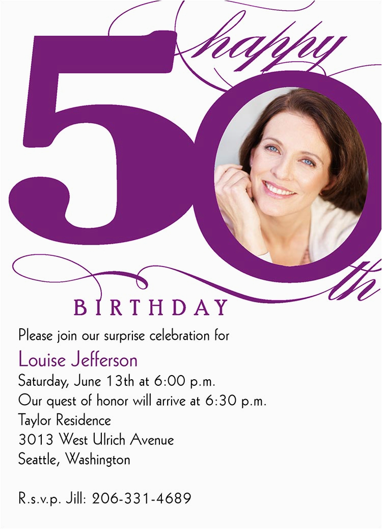 50th Birthday Party Invitations with Photo Milestone 50th Birthday Invitations by Brookhollow