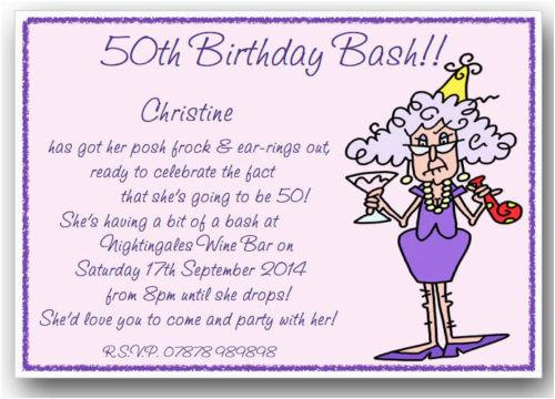 50th Birthday Party Invite Wording Funny Invitations Ideas Free
