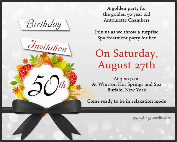 50th Birthday Sayings For Invitations Invitation Sample