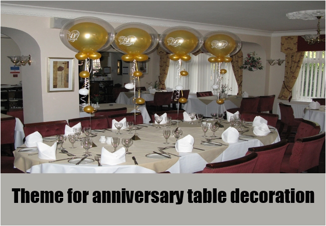 Fabulous 50Th Birthday Table Decorations Ideas 50Th Anniversary Table Home Interior And Landscaping Fragforummapetitesourisinfo
