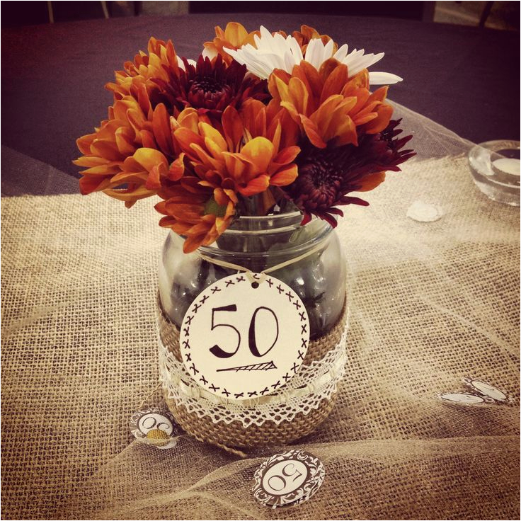 50th Birthday Table Decorations Ideas Wedding Anniversary Party Centerpiece Projects I