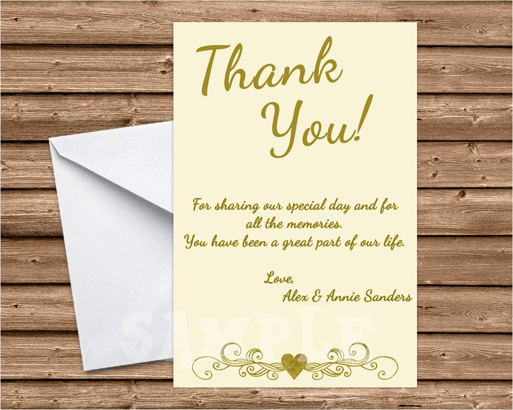 50th Birthday Thank You Cards Wedding Anniversary Ivory Party
