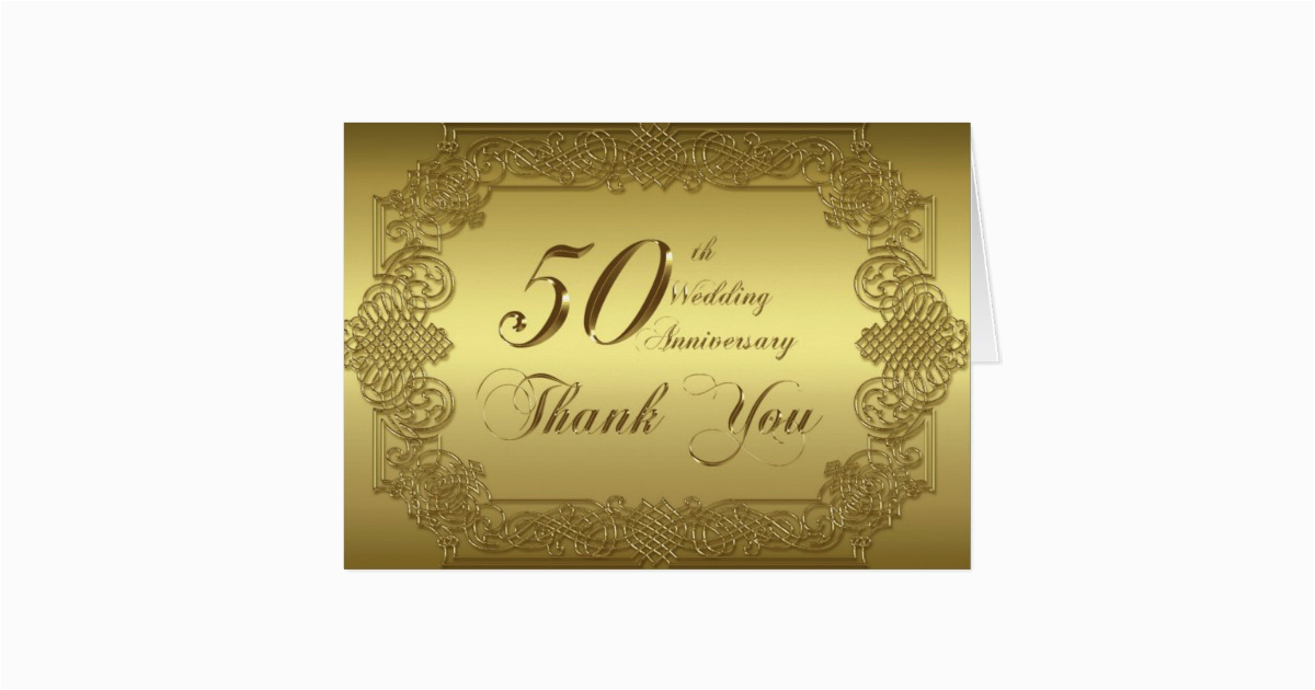 50th wedding anniversary thank you note card 137639107038647827