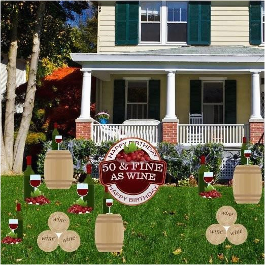 50th birthday yard decoration 50 fine as wine free shipping