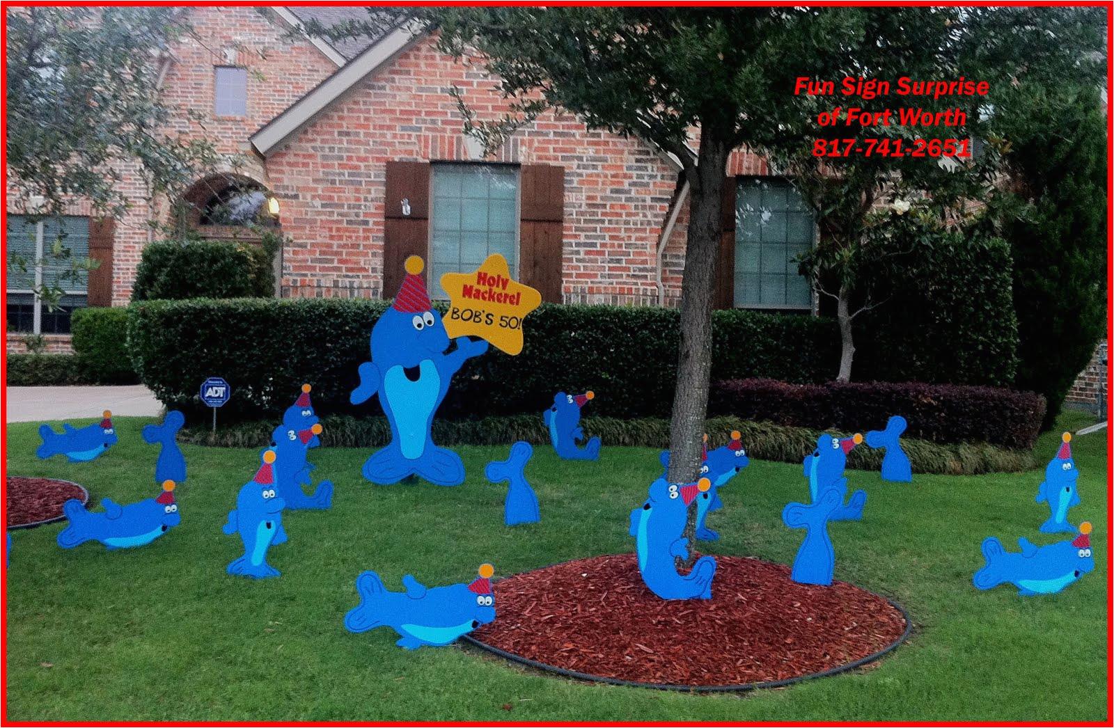 yard landscaping funny 50th birthday