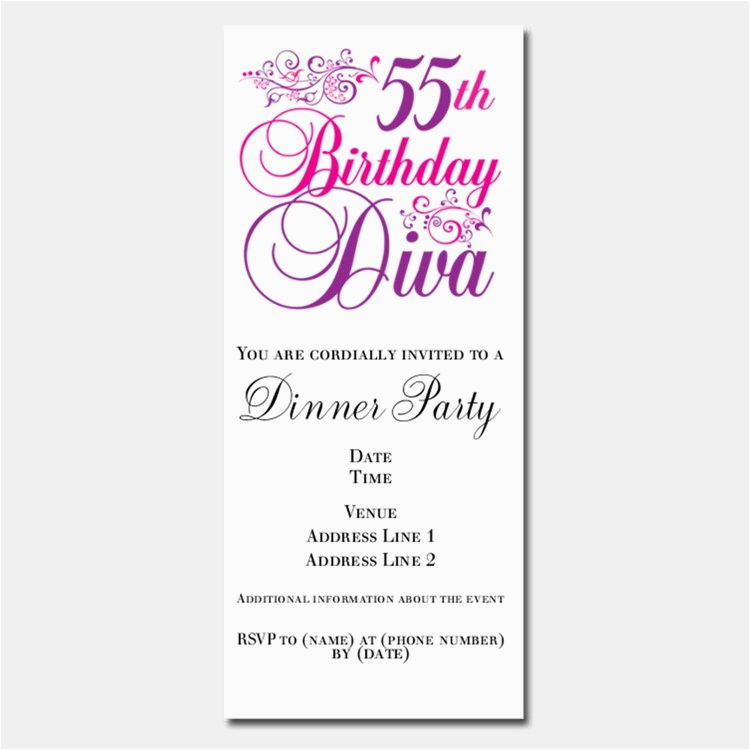 happy 55th birthday invitations