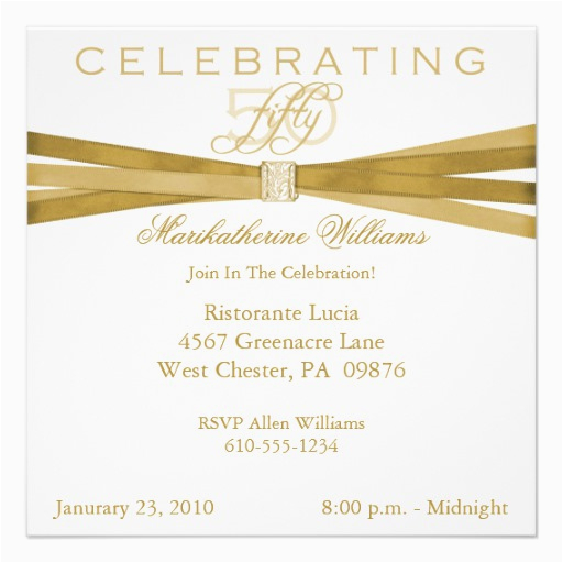 elegant 50th fiftieth birthday party invitations 5 25