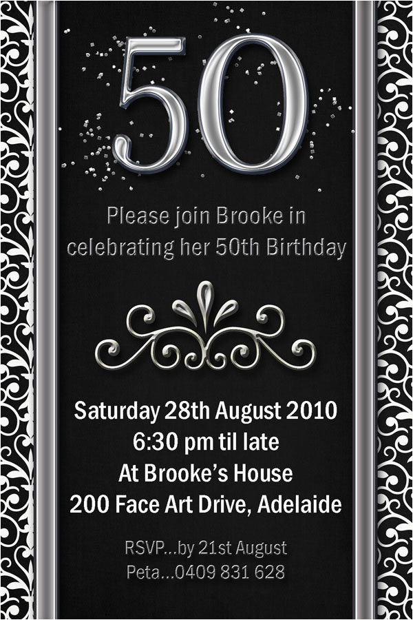 fiftieth birthday invitations smart designs