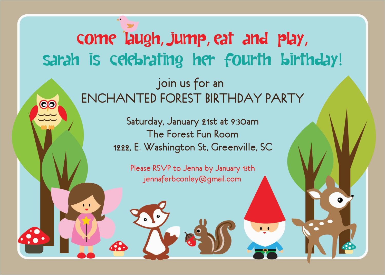 5th Birthday Invitation Wording Samples Party Card Sample