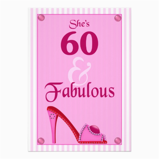 60 and fabulous birthday invitations 161583377152427245