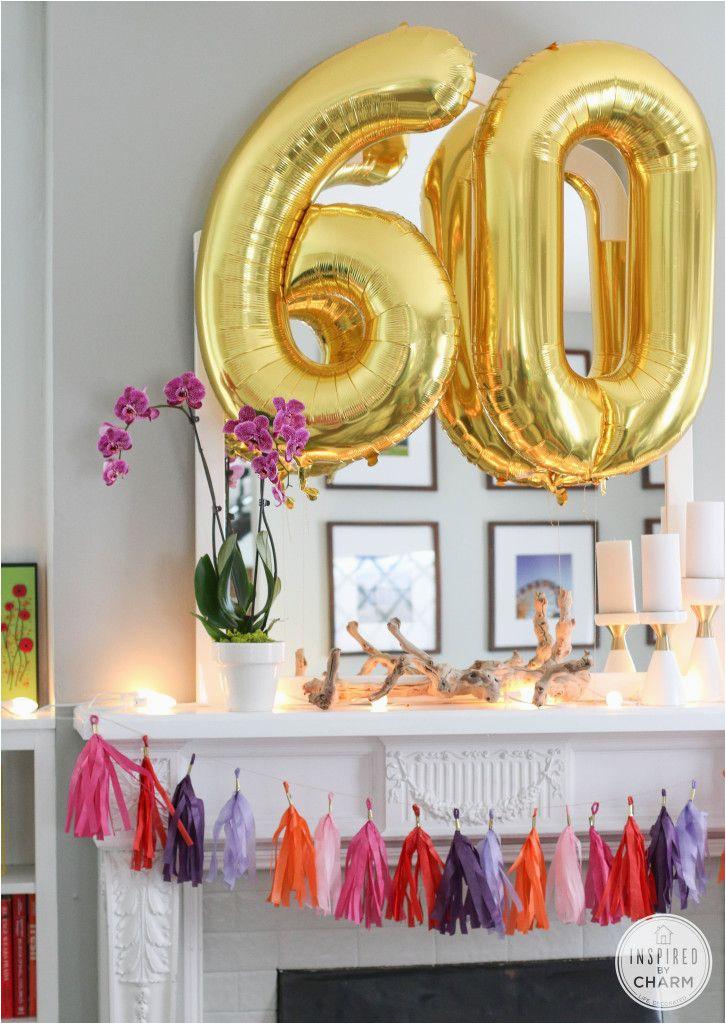 60 Birthday Decoration Ideas Best 25 60th On Pinterest