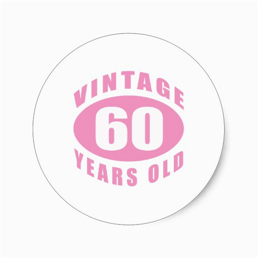 60th birthday gifts for her sticker zazzle