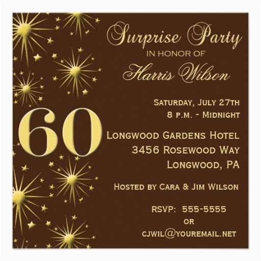 Surprise 60th Birthday Party Invitations Wording