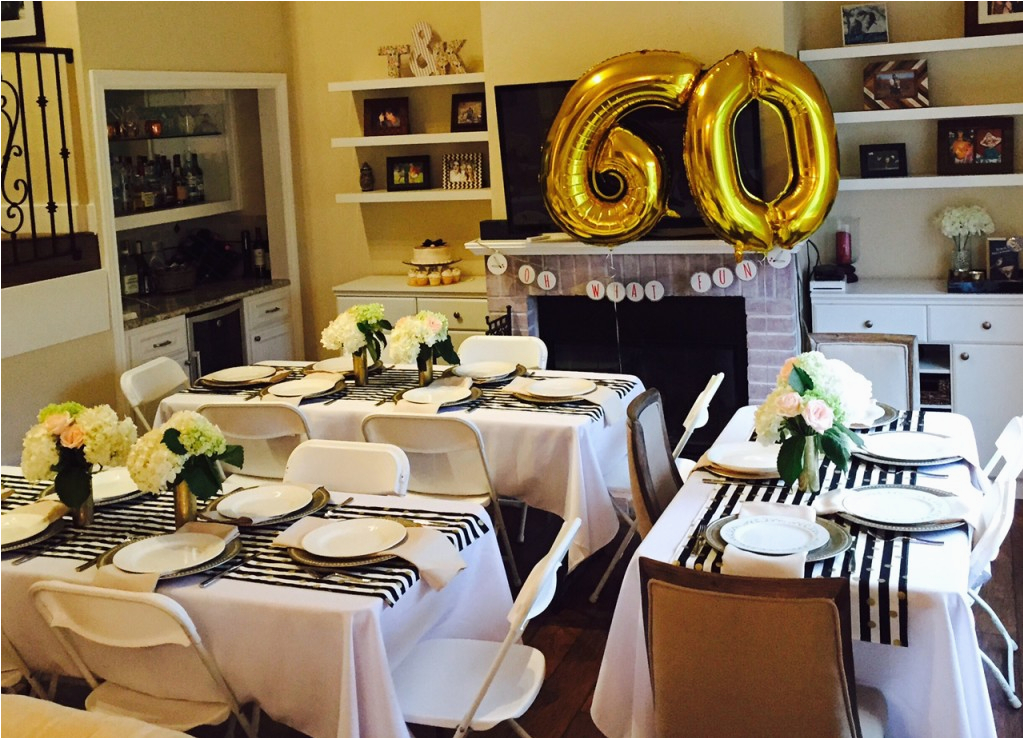 60 Year Old Birthday Decorations Golden Celebration 60th Party Ideas For Mom