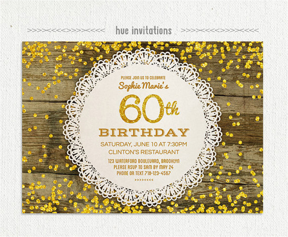 60 Year Old Birthday Invitations 20 Ideas 60th Party Card Templates