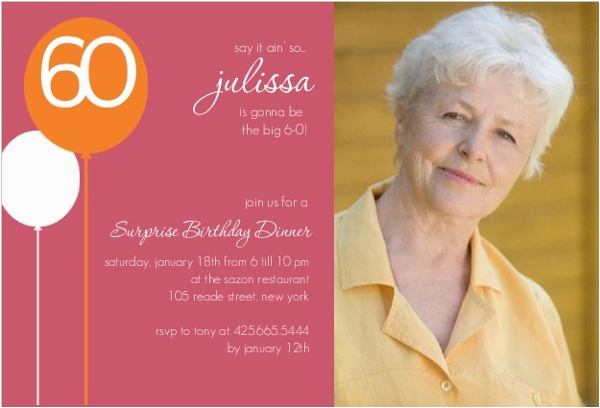 60 Year Old Birthday Invitations Dusty Rose 60th Surprise Party Invitation