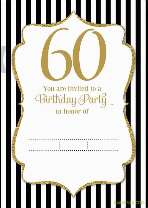 60 Year Old Birthday Invitations Free Printable 60th Invitation Templates