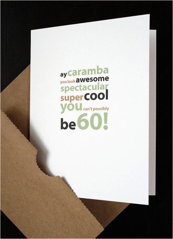 60th Birthday Card For My Wife Happy Him Her Friend Husband