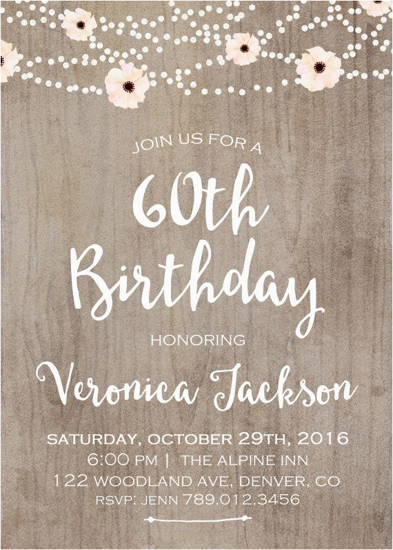 60th Birthday Celebration Invitations Best 25 Ideas On Pinterest