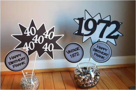 60th Birthday Decorations Cheap 40th 50th Centerpiece Vintage 1977 1967
