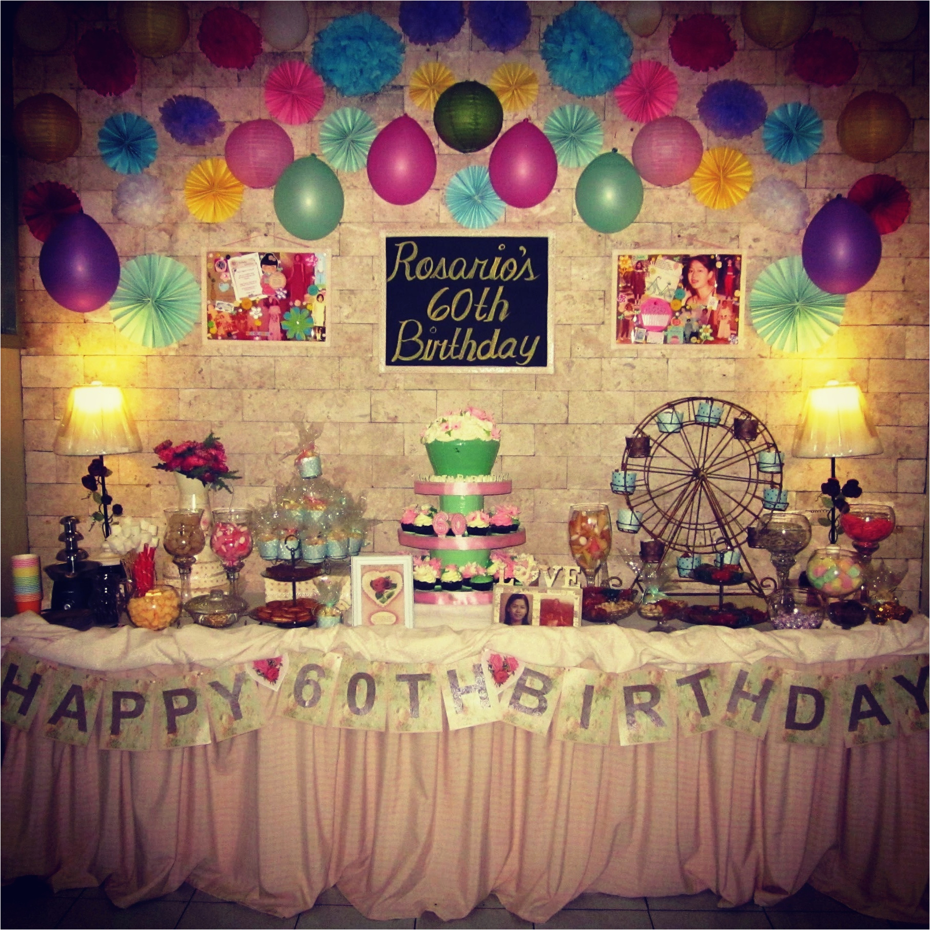 60th Birthday Decorations For Mom Party Ideas Plus Mum