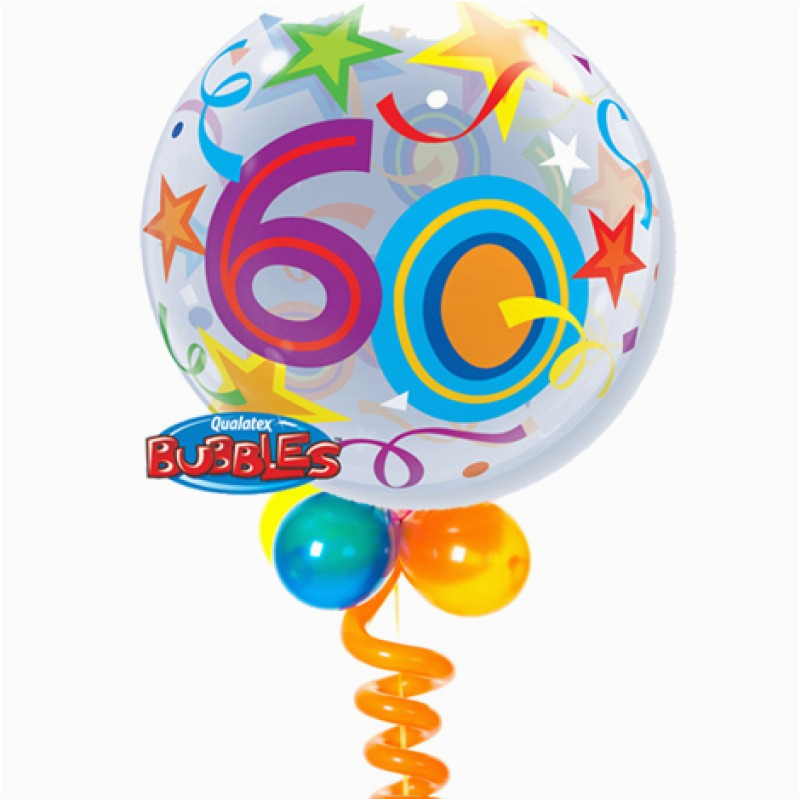60th birthday bubble balloon bouquet party fever