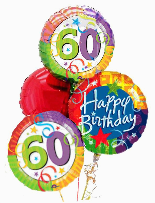 balloons by mail a 60th birthday