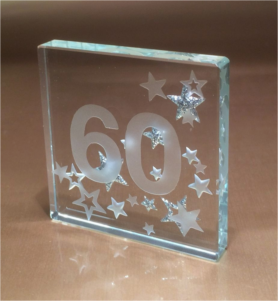 60th Birthday Gifts For Her Ideas Gift Spaceform Glass Token Sixty