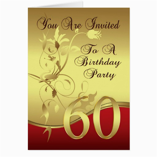 60th Birthday Invitation Cards Design Party Card Zazzle