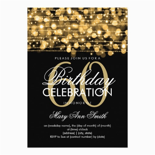 60th Birthday Invitation Cards Design Free Printable Invitations