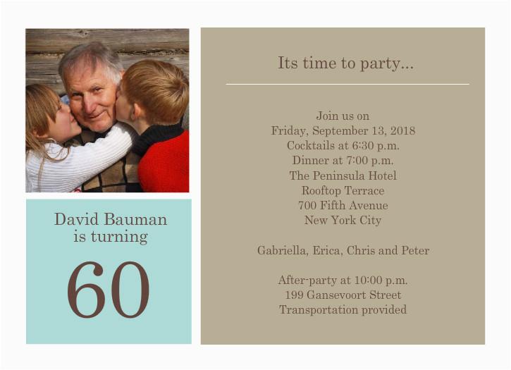 60th Birthday Invitation Wording Funny Invitations Party