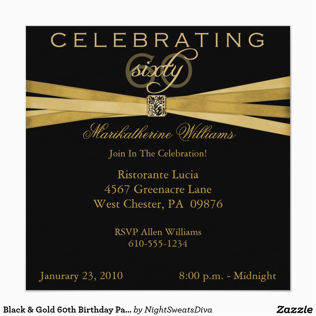 Sample 60th Birthday Invitation Best Party Ideas