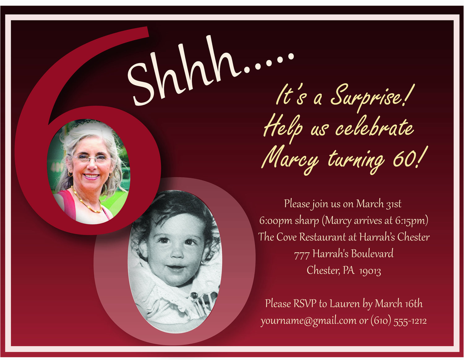 60th Birthday Invitations For Her Invitation Templates Best Template Collection
