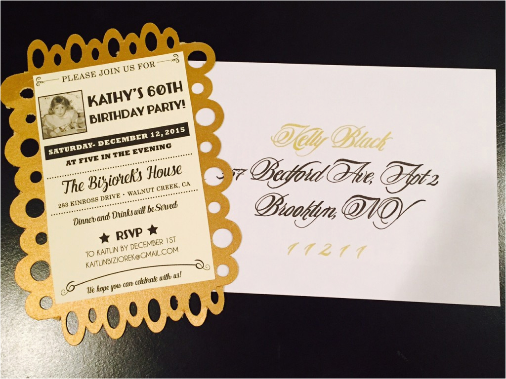 60th Birthday Invitations For Mom Golden Celebration Party Ideas