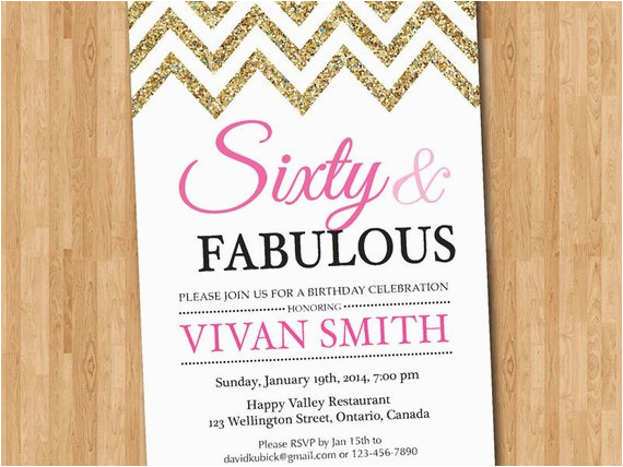 60th birthday invitation women sixty and