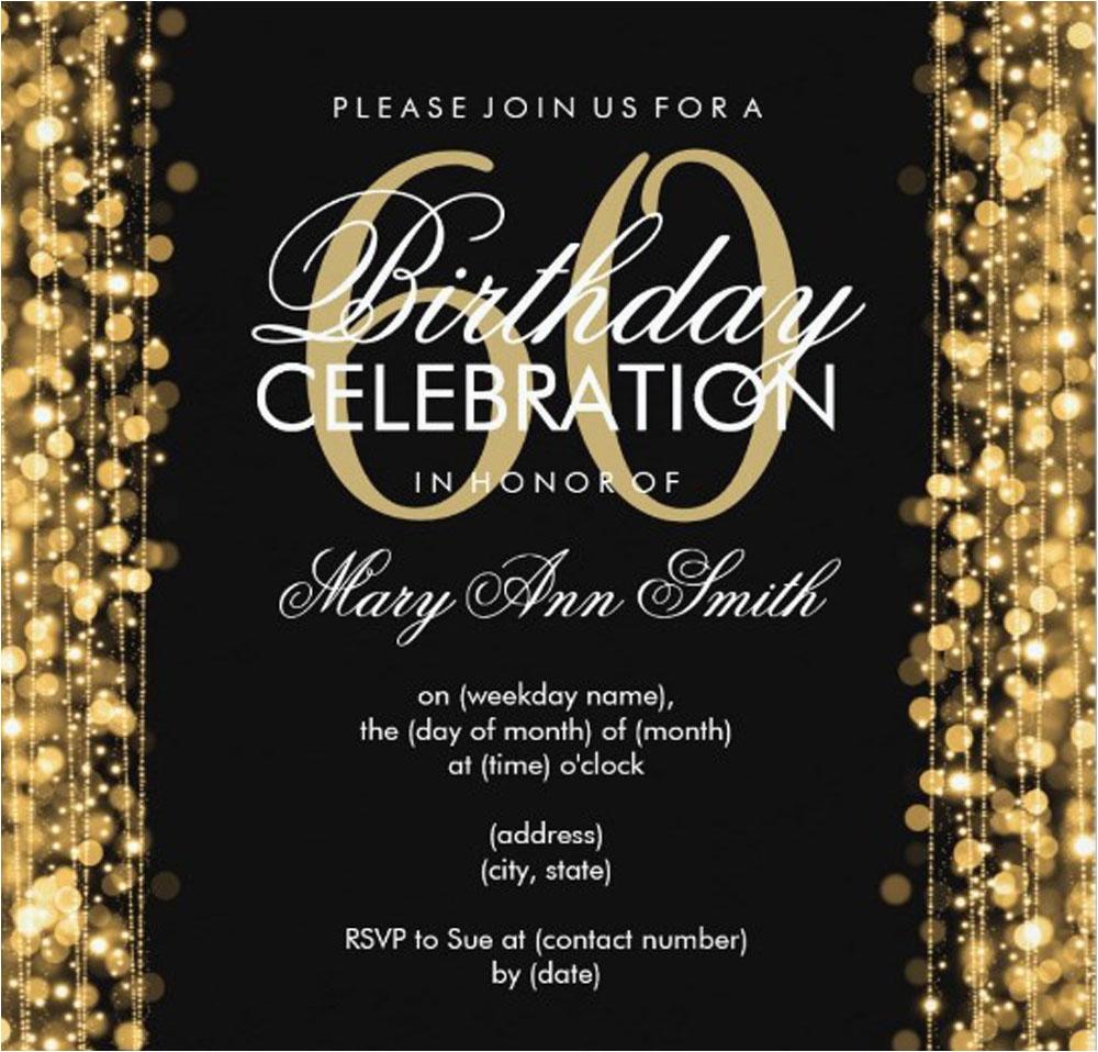 20 ideas 60th birthday party invitations card templates