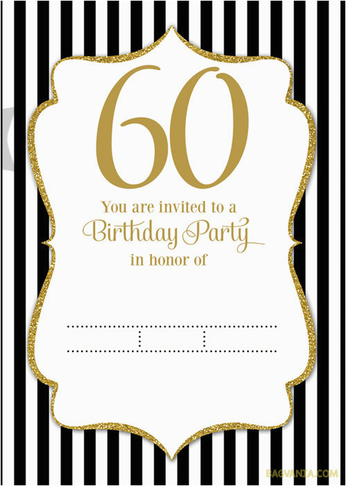 free printable 60th birthday invitation templates free