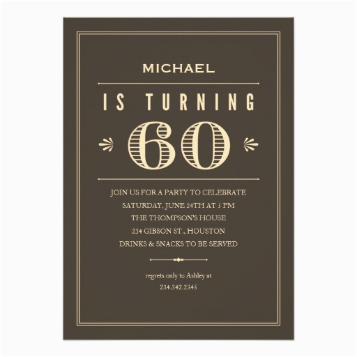 60th birthday invitations for men 161484241188060581