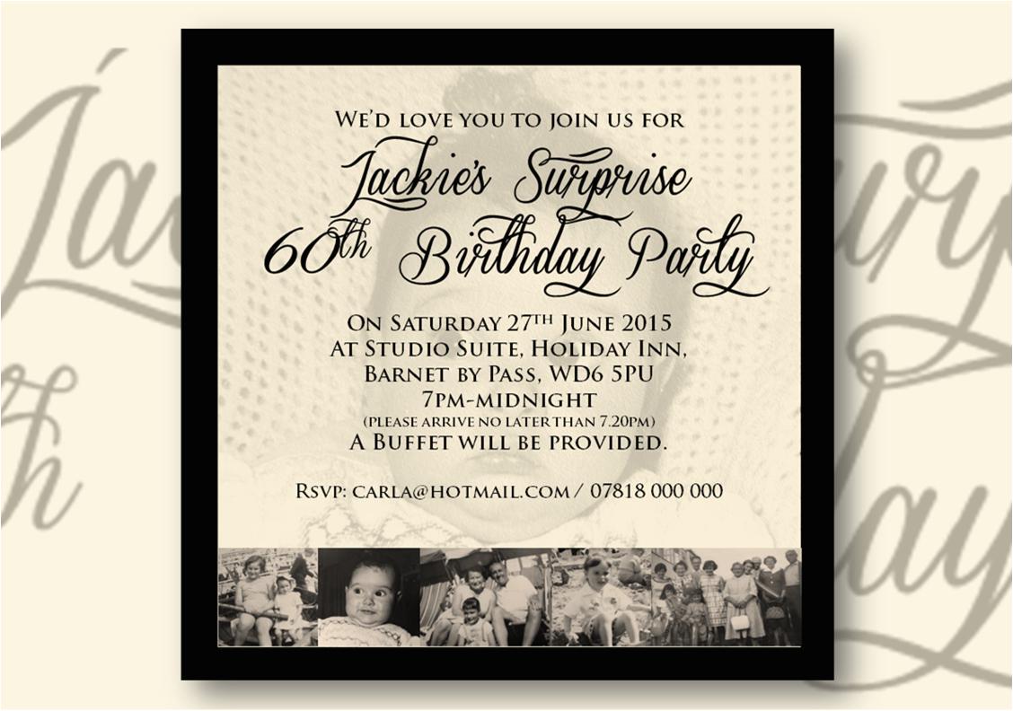60th Birthday Invitations Uk Best Party Ideas