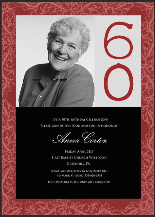 60th Birthday Invite Ideas Surprise Party Invitation Wording