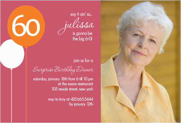 60th Birthday Party Invitations Ideas
