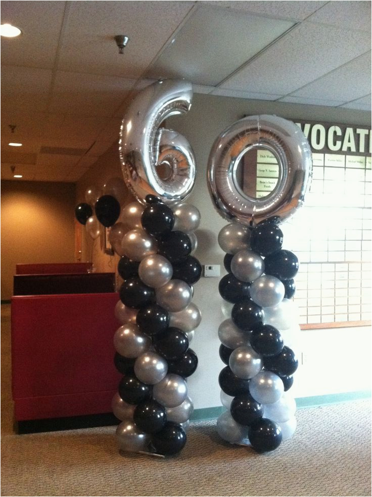 60th Birthday Party Decorations For Men Balloon Pinterest